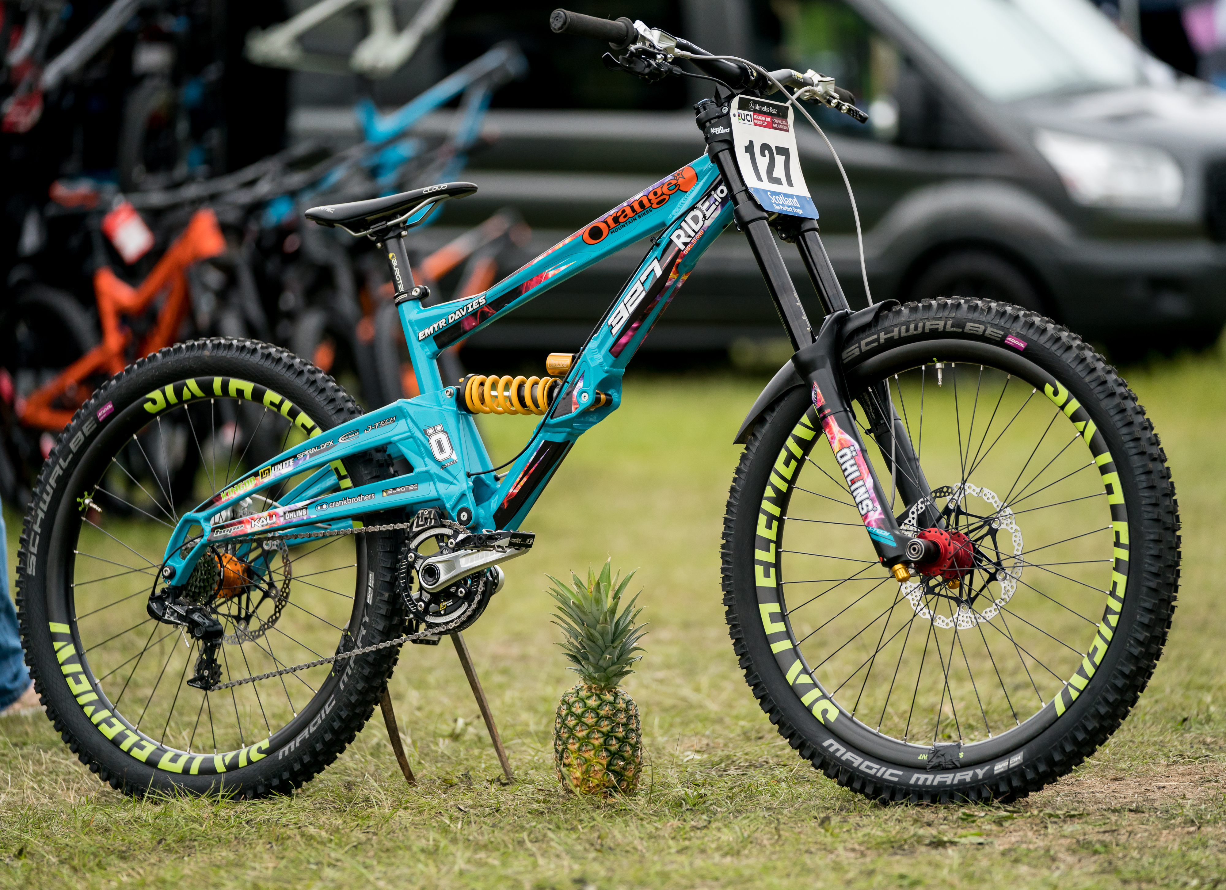 Team Ride It Out Downhill Bike Orange 327