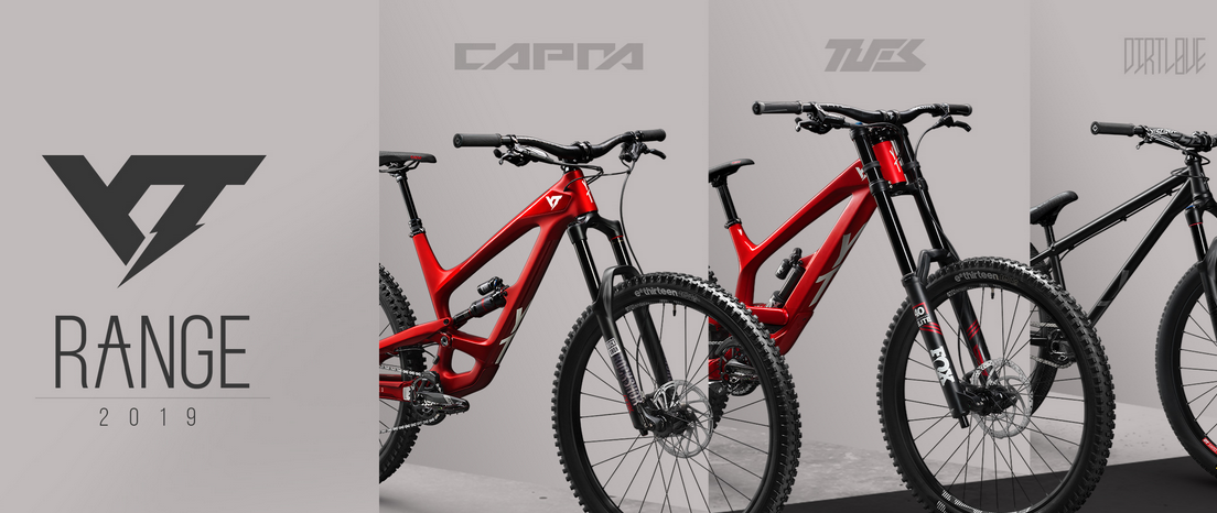 b5275b36e5c 2019 brings new specs and bling new colours for the CAPRA, TUES and DIRT  LOVE. Updated builds and highly adjustable components keep the range  interesting ...
